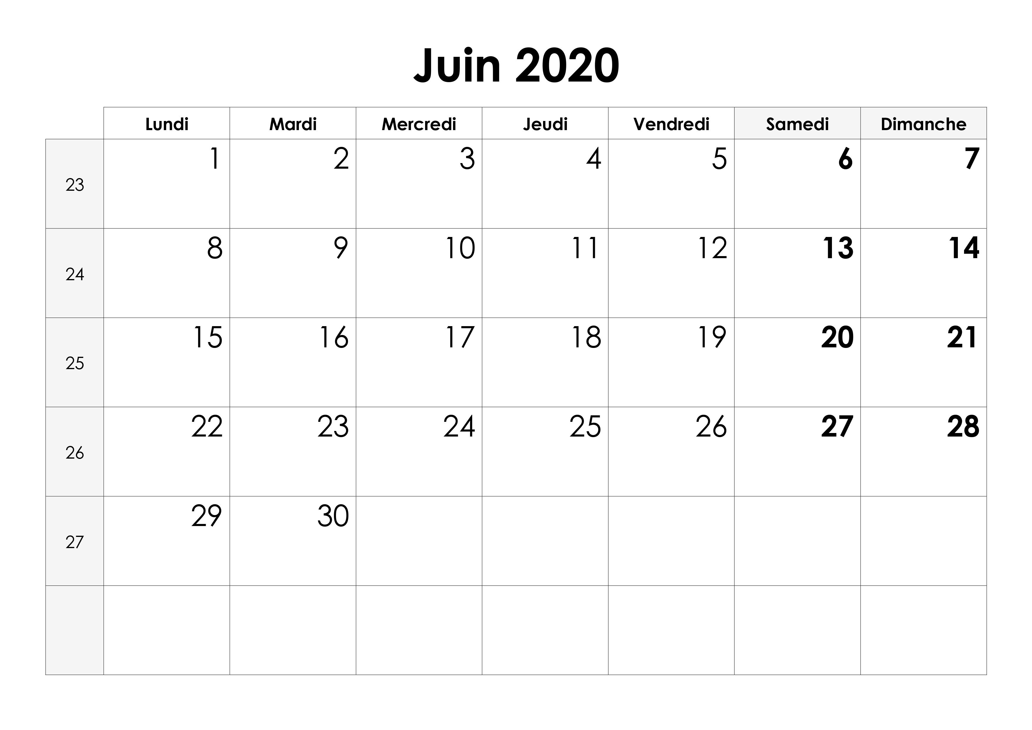 Calendrier Juin 2020.Calendrier Juin 2020 Calendrier Su