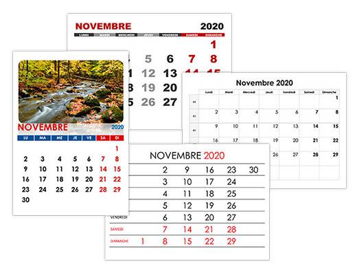 Calendrier A Imprimer Novembre 2020.Calendrier Novembre 2020 Calendrier Su