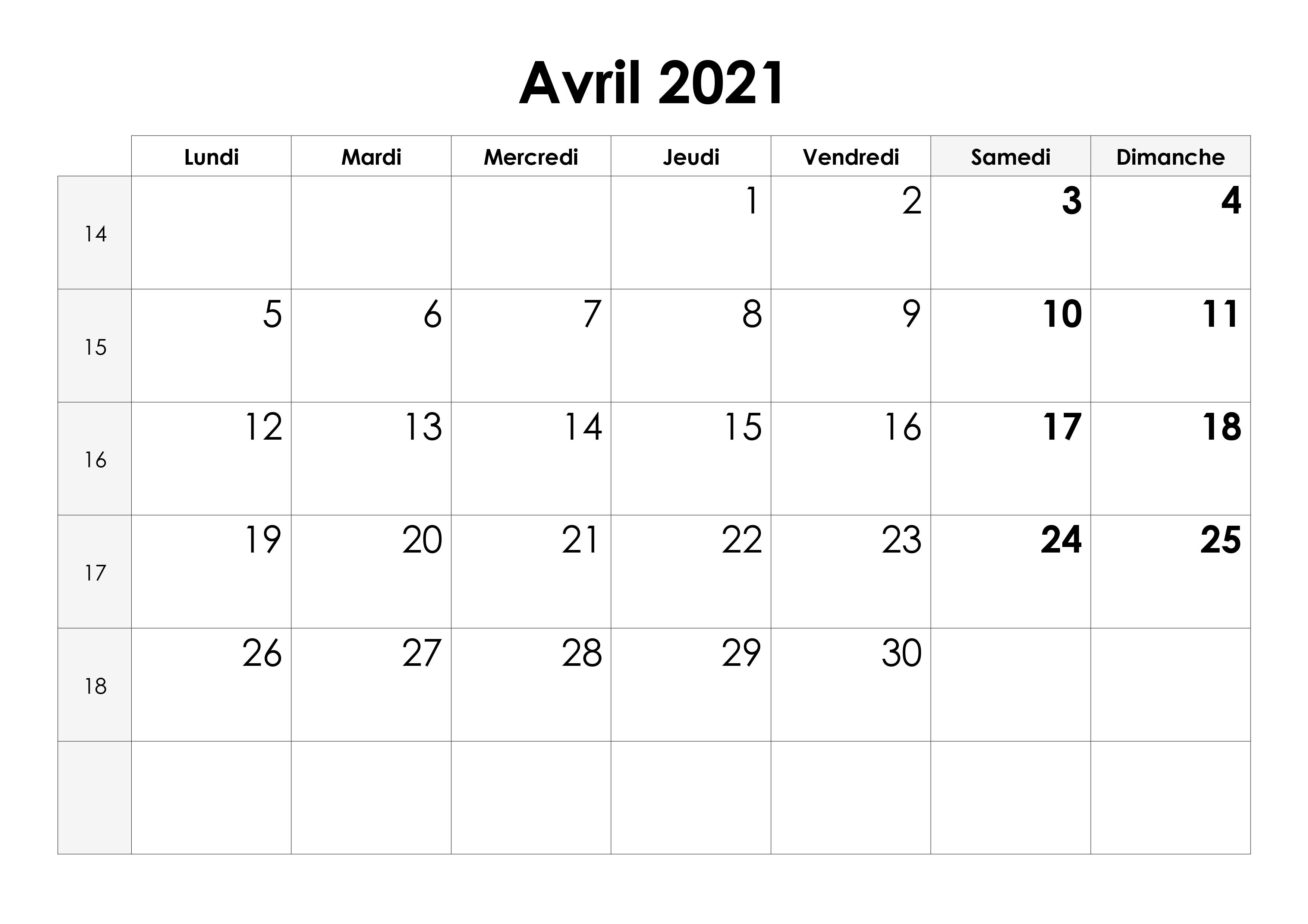 Calendrier Mars Et Avril 2021 Calendrier avril 2021 – calendrier.su