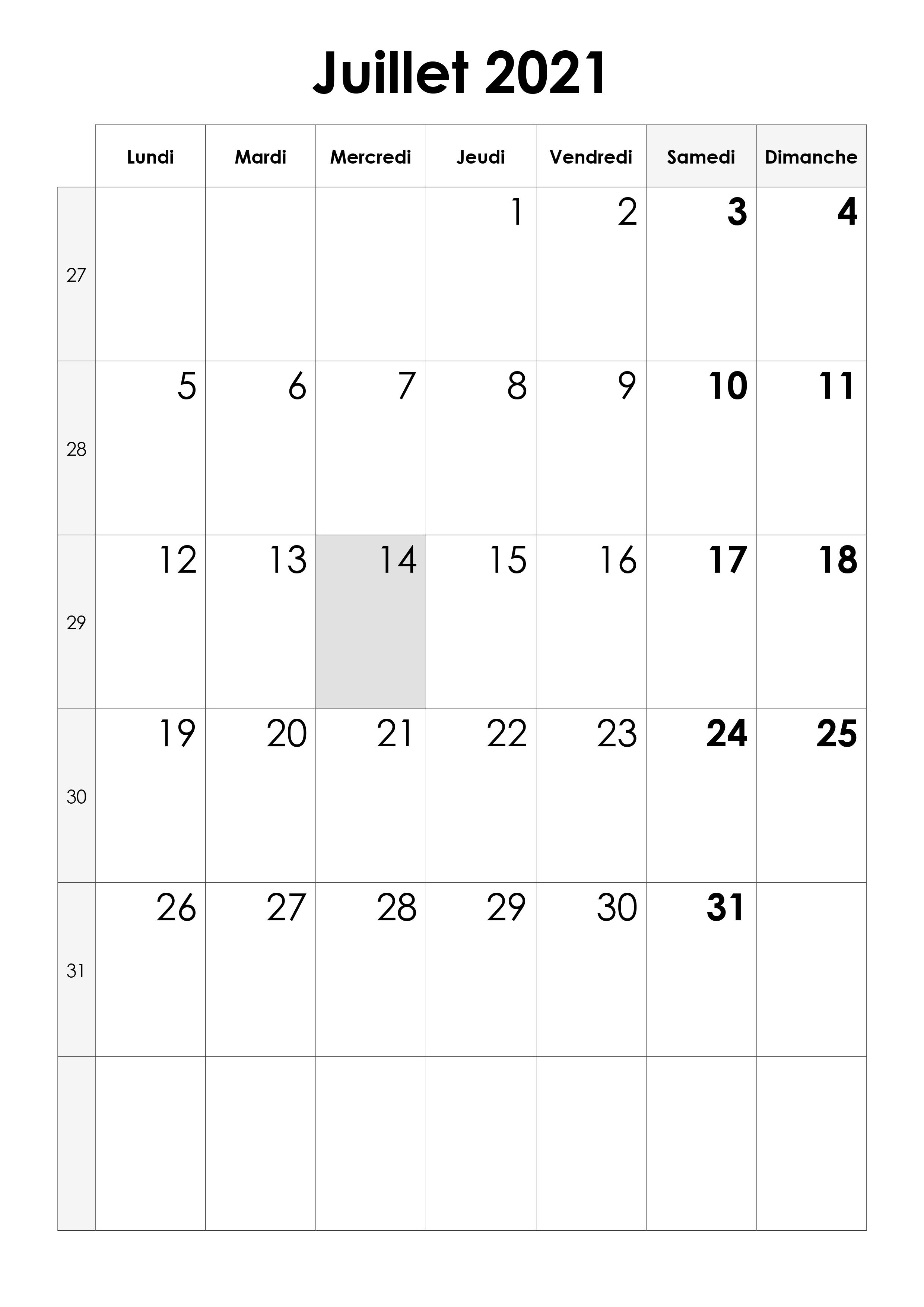 Calendrier Juillet 2021 Pdf Calendrier juillet 2021 – calendrier.su