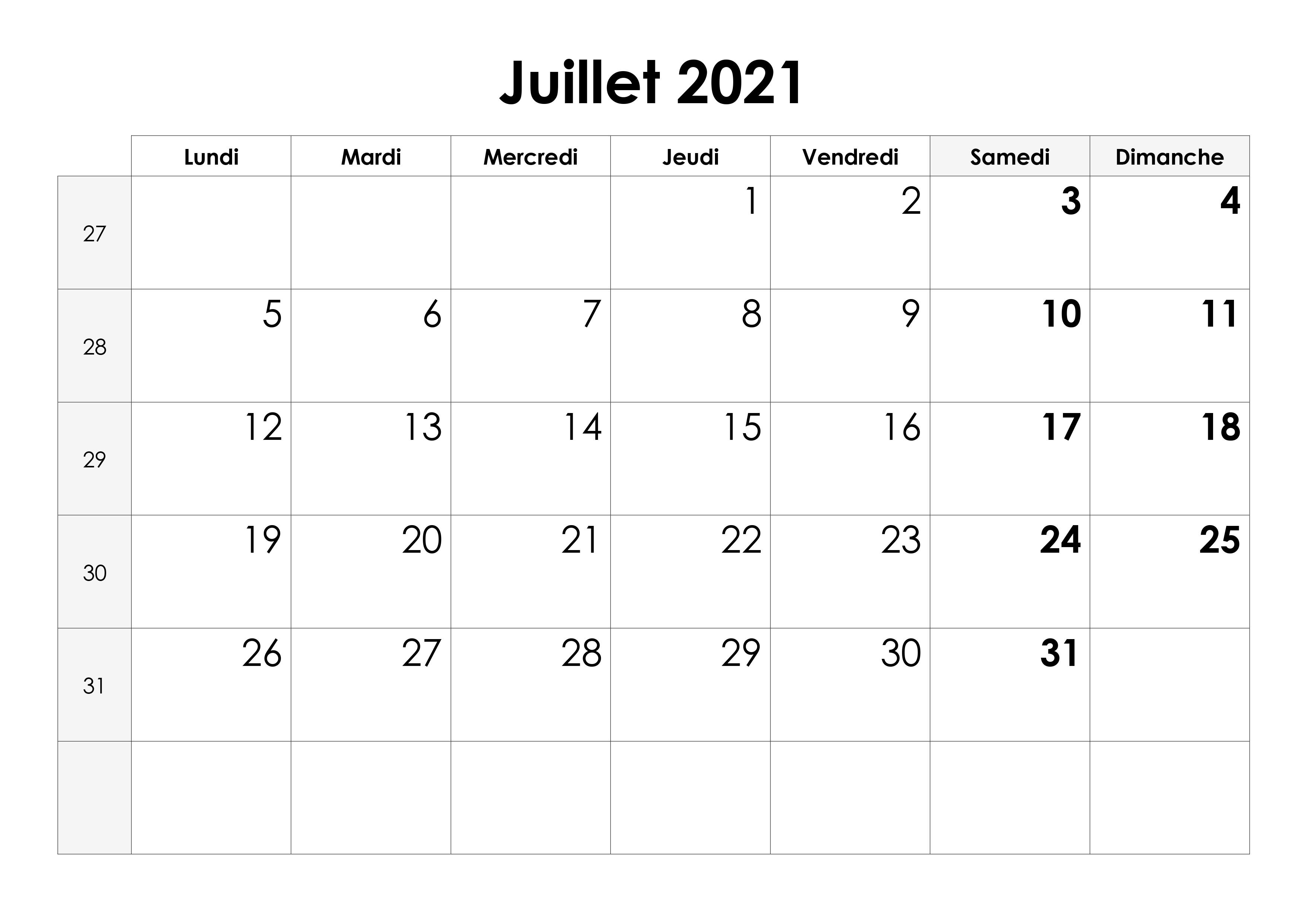Calendrier Mois De Juillet 2021 à Imprimer Calendrier juillet 2021 – calendrier.su