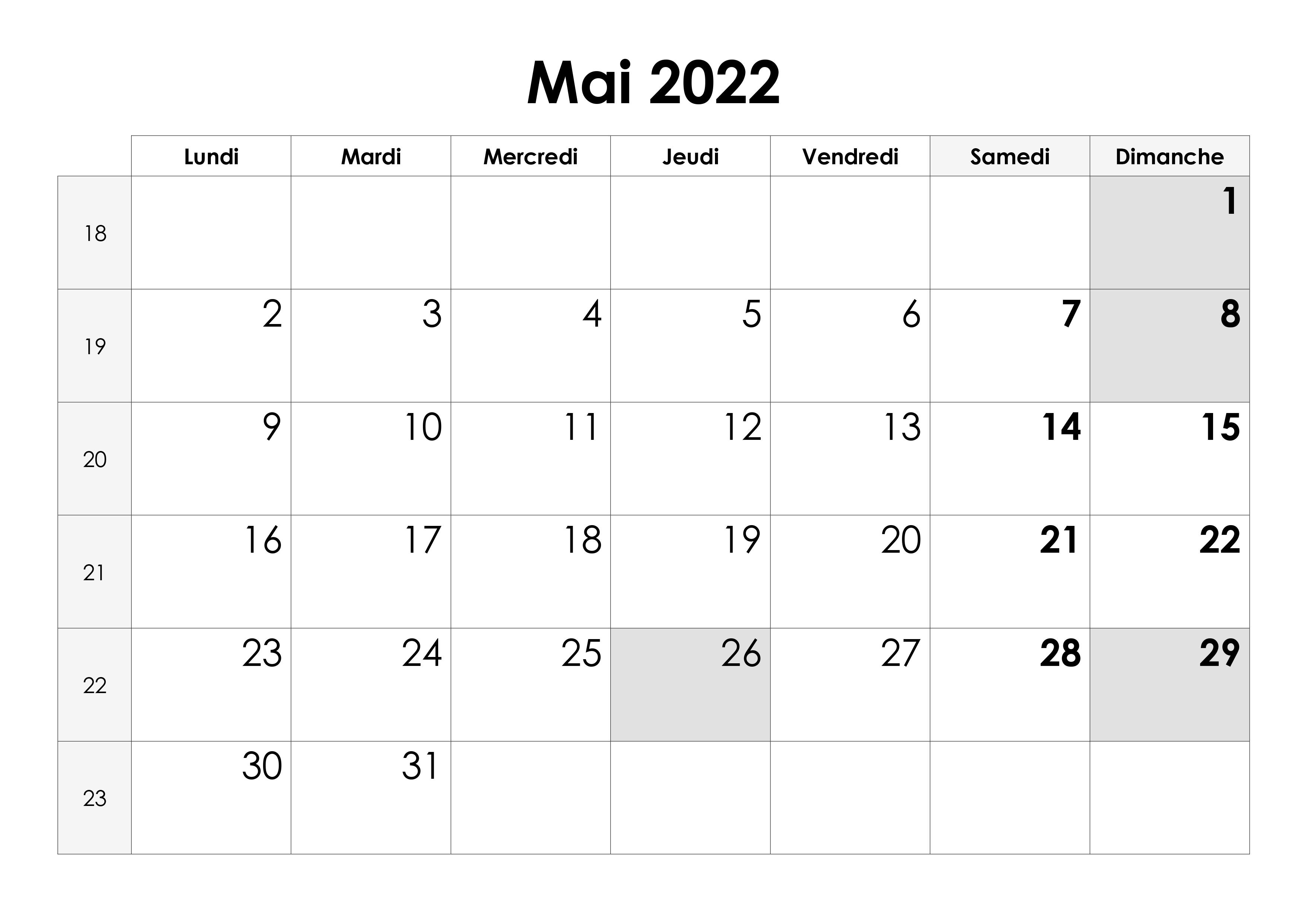 Calendrier Mai Juin 2022 Calendrier mai 2022 – calendrier.su