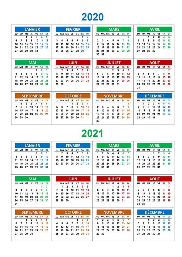Calendrier annuel 2020 2021 – calendrier.su
