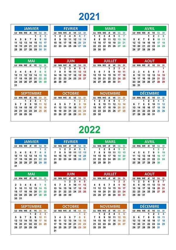 Calendrier annuel 2021 2022 – calendrier.su