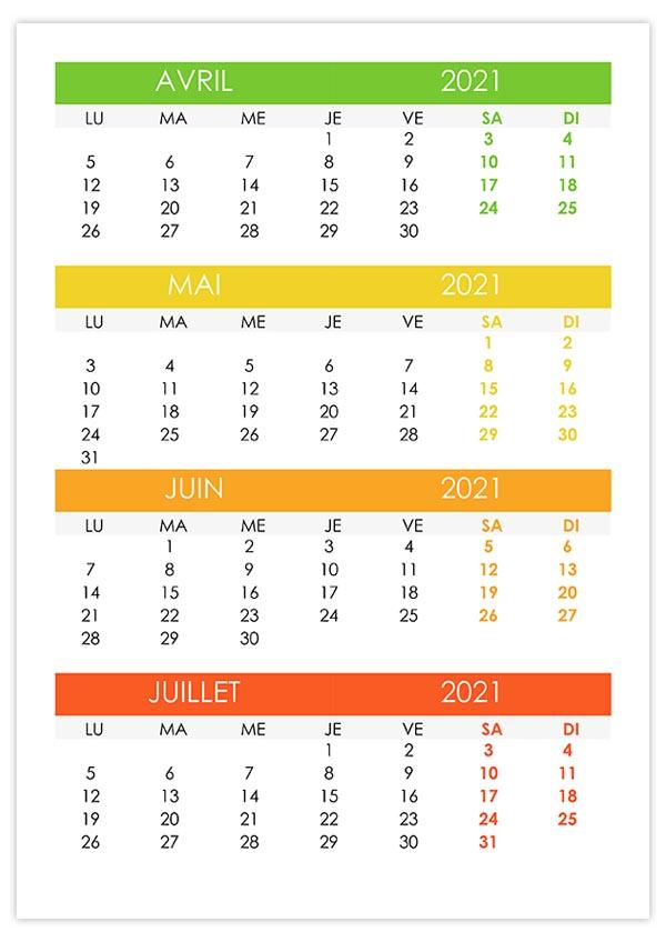 Avril – calendrier.su