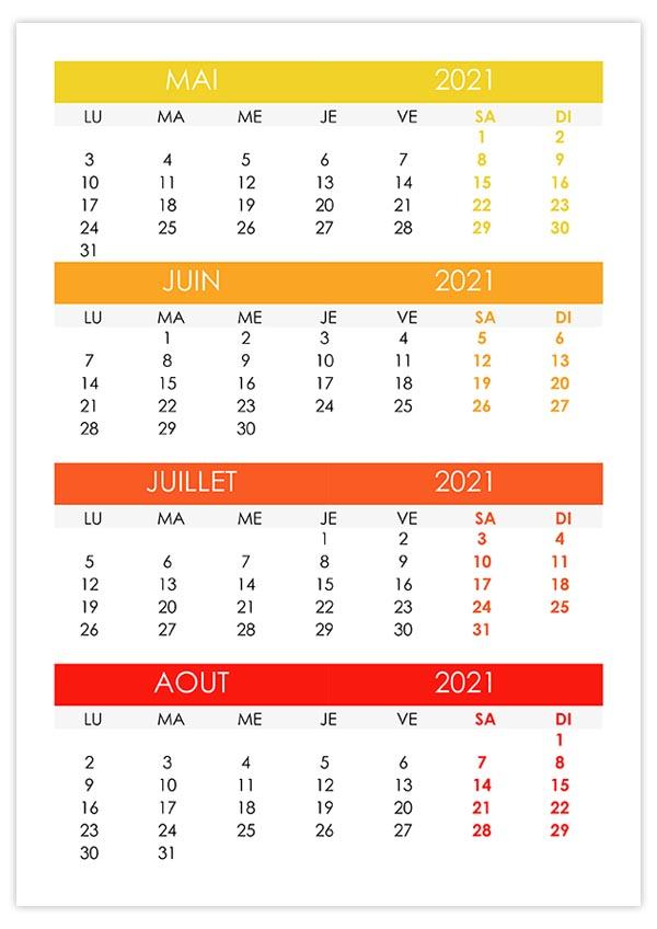 Calendrier Mai Juin Juillet 2021 Mai – calendrier.su