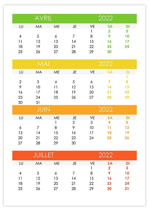 Calendrier Avril Mai Juin 2022 Calendrier avril, mai, juin, juillet 2022 – calendrier.su