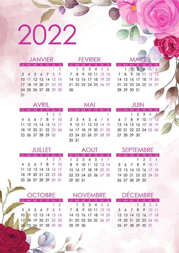 Calendrier 2022 Joli Beau calendrier – calendrier.su